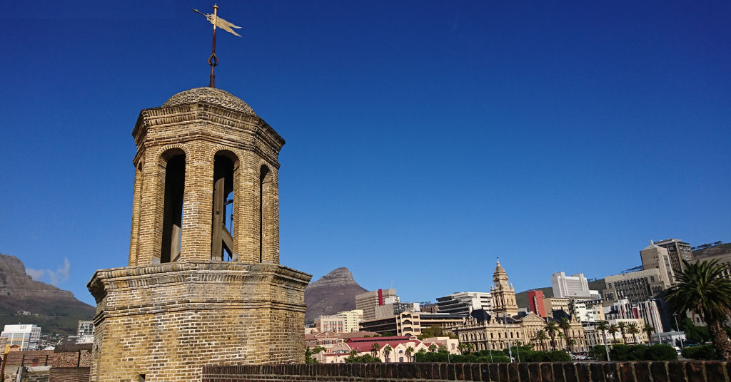 The Bell Tower of the Castle of Good Hope with the City in the background.